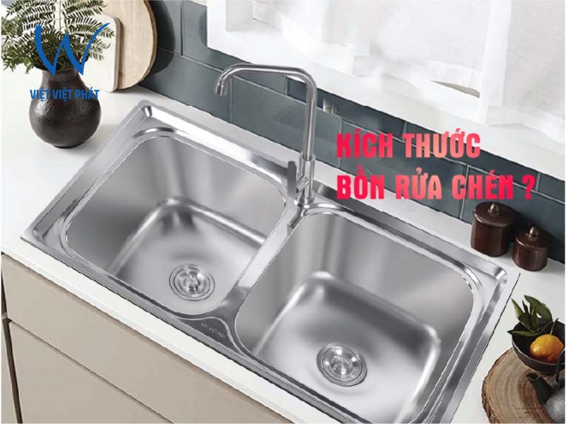 Các loại kích thước bồn rửa chén inox phổ biến hay gặp