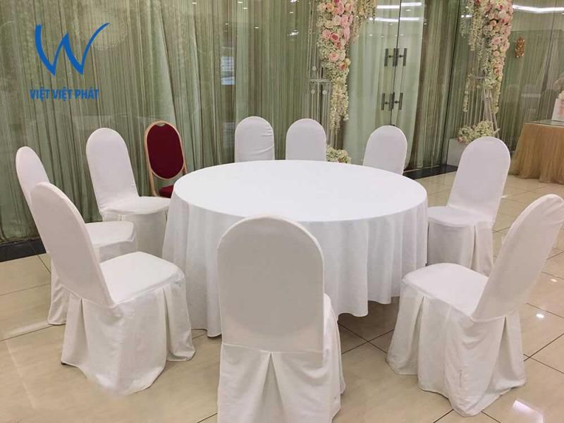 Ưu điểm và kích thước bàn tròn inox 10 người cho căng tin, nhà hàng, sự kiện
